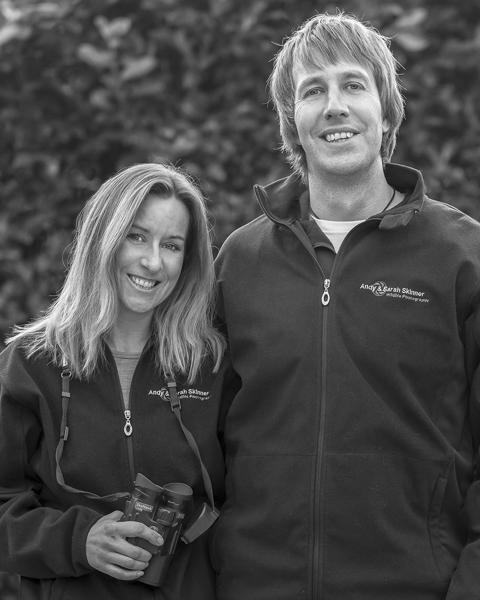 wildlife photographers Andy & Sarah Skinner