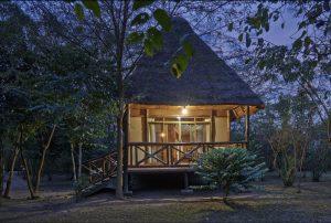 private cottage used during chimp and gorilla photo safari